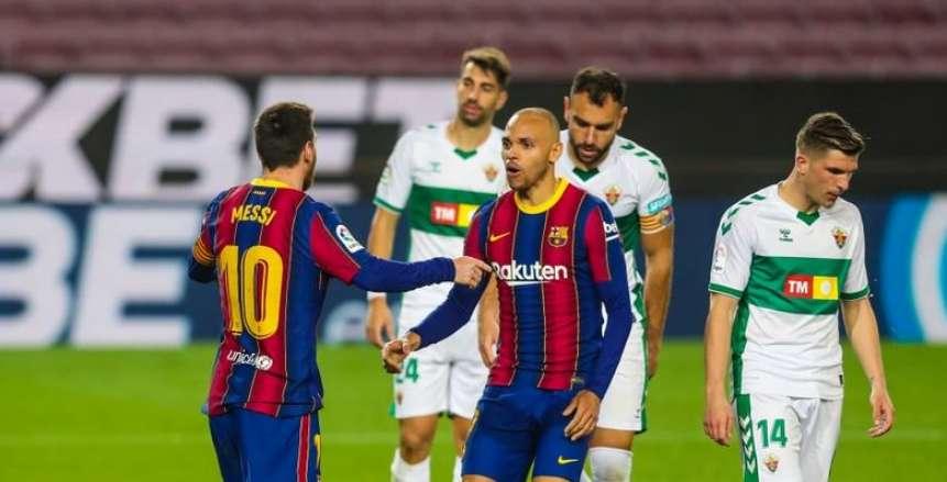 برشلونة يكتسح إلتشي بثلاثية ويستعيد توازنه في ليلة تألق ميسي «فيديو»