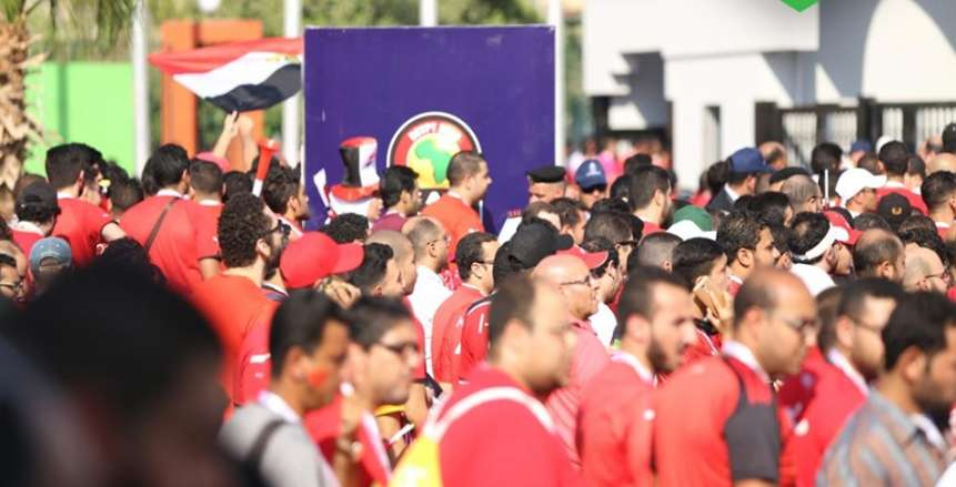 توافد الجماهير مباراة الافتتاح ما بين مصر وزيمبابوي