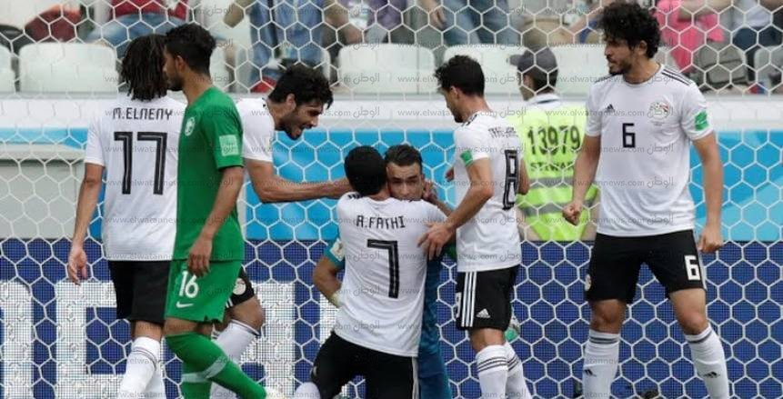 صور مباراة مصر والسعودية