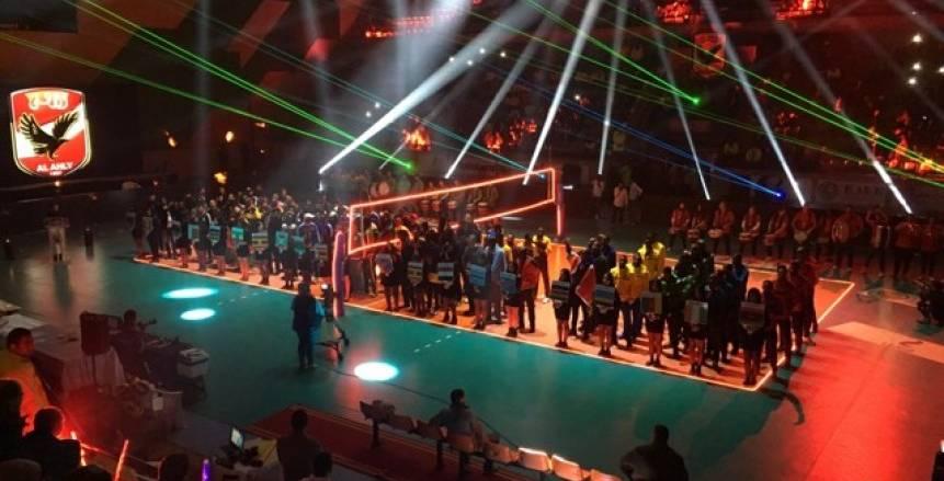 بالصور.. حفل افتتاح بطولة أفريقيا لرجال كرة الطائرة بالأهلي