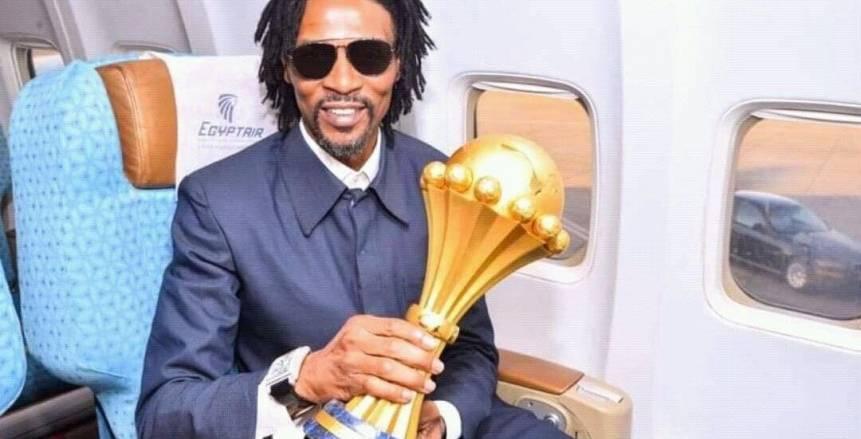 بالصور.. لحظات وصول كأس أمم أفريقيا إلى مصر