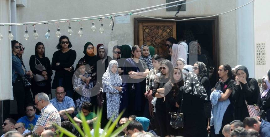 جنازة نور كمال حافظ لاعبة اليد في النادي الأهلي