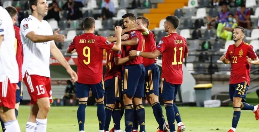إسبانيا تقهر جورجيا برباعية.. وألمانيا تمطر شباك أرمينيا بسداسية