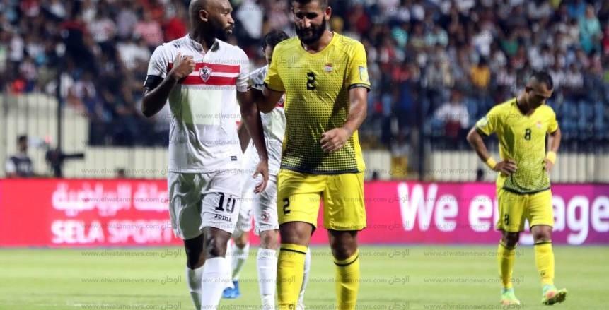 مباراة الزمالك والهعد اللبناني في البطولة العربية