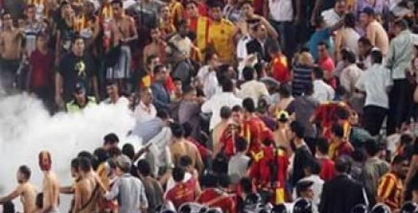 اشتباكات بين جماهير الترجي وقوات الأمن التونسي