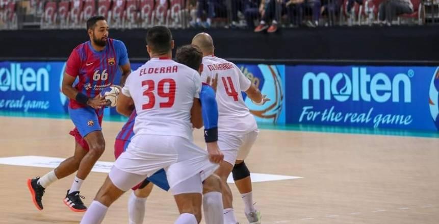 ملخص مباراة الزمالك وبرشلونة في كأس العالم للأندية لكرة اليد «فيديو»
