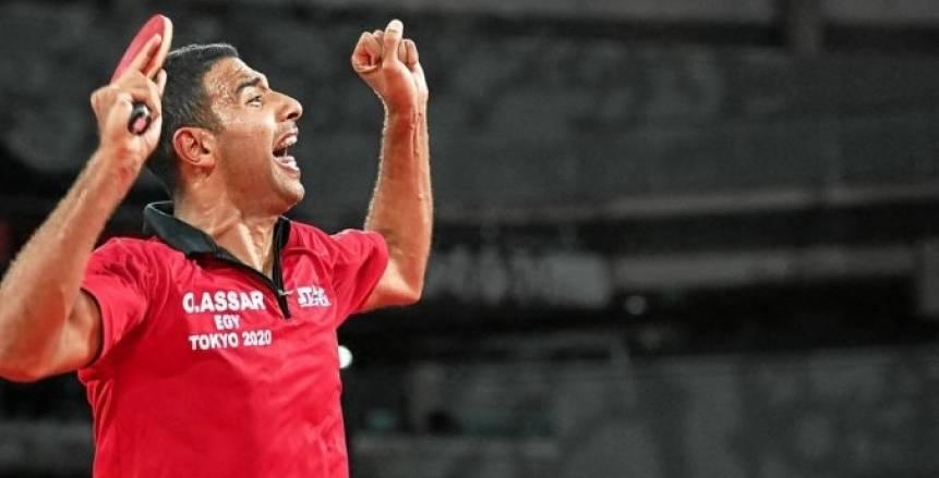 بعد تأهله لربع نهائي أولمبياد طوكيو.. عمر عصر صائد إنجازات تنس الطاولة