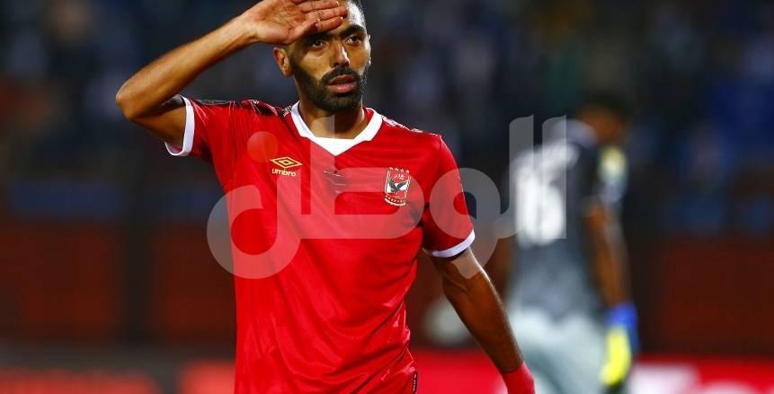 قطع سطحي في رأس حسين الشحات خلال مباراة حرس الحدود