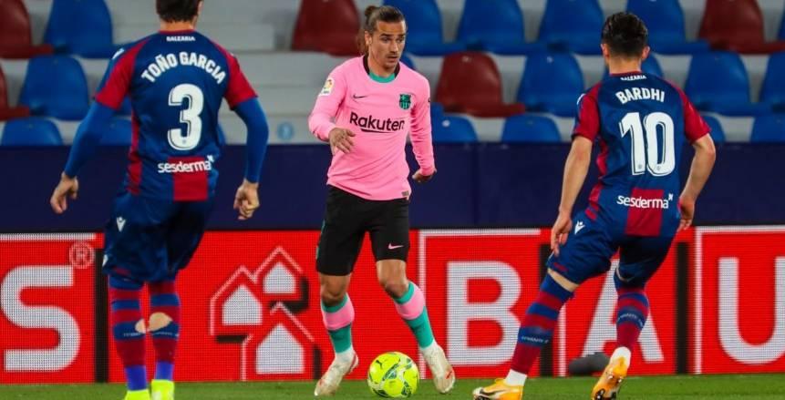 الليجا تشتعل.. برشلونة يهدر فرصة خطف الصدارة بتعادل مخيب ضد ليفانتي