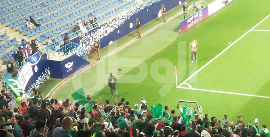 بالصور| جماهير الاتحاد السكندري تملأ مدرجات ملعب «جامعة الملك سعود»