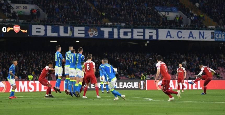 بالفيديو.. أرسنال يتأهل لنصف نهائي الدوري الأوروبي بعد تخطي نابولي بمشاركة النني