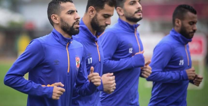التركيز يسيطر على لاعبي الأهلي قبل مواجهة المصري