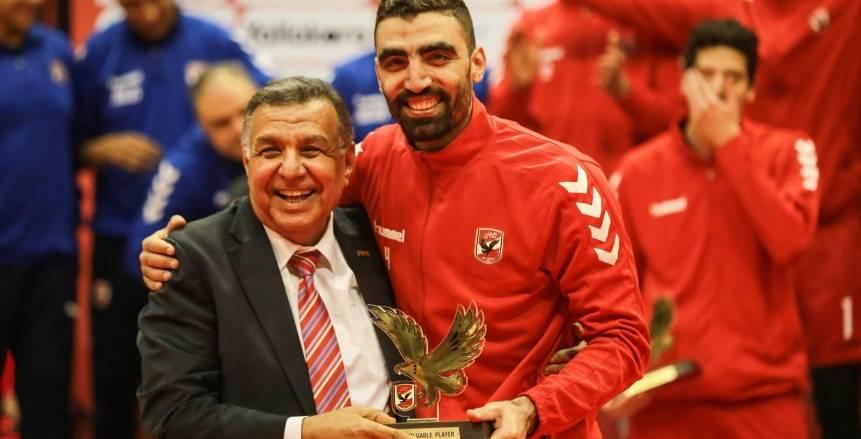 أحمد صلاح يحصد جائزة أفضل لاعب في بطولة أفريقيا للكرة الطائرة