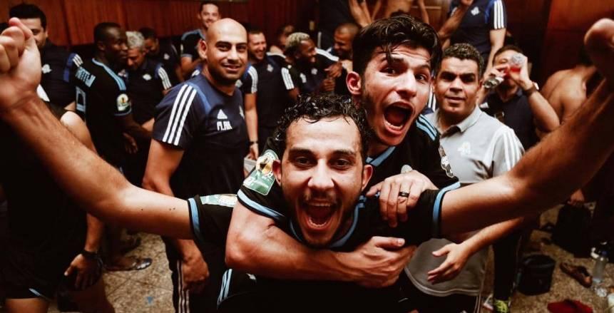 فرحة هيستيرية للاعبي بيراميدز بعد الفوز على رينجرز (صور)