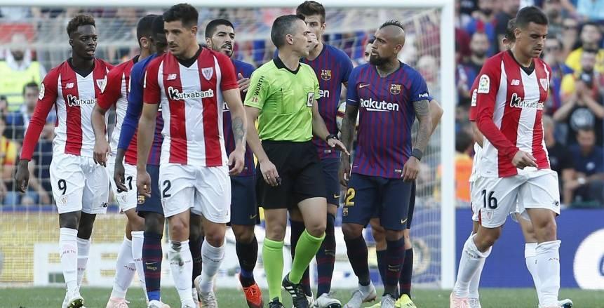 الدوري الإسباني| موعد مباراة أثلتيك بلباو ضد برشلونة والقنوات الناقلة