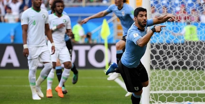 كأس العالم  «سواريز» على رأس تشكيل أوروجواي أمام روسيا