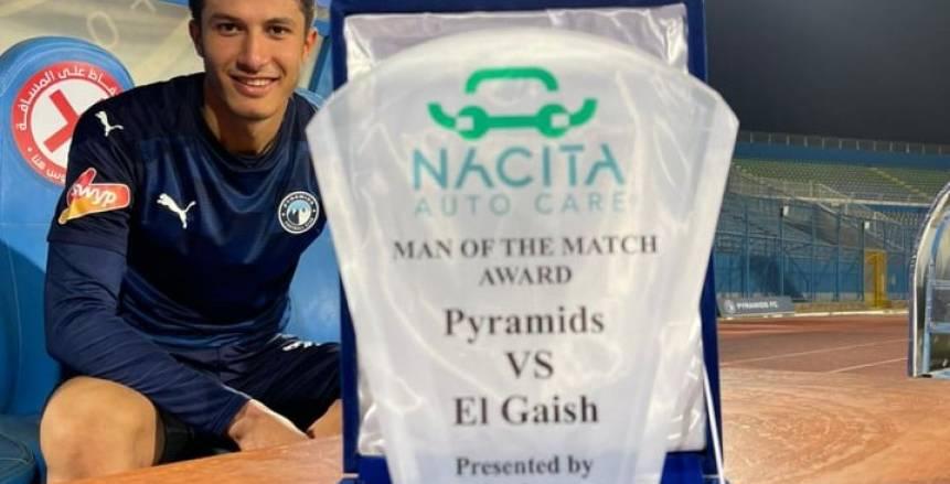 أسامة جلال أفضل لاعب في مباراة بيراميدز وطلائع الجيش بالدوري