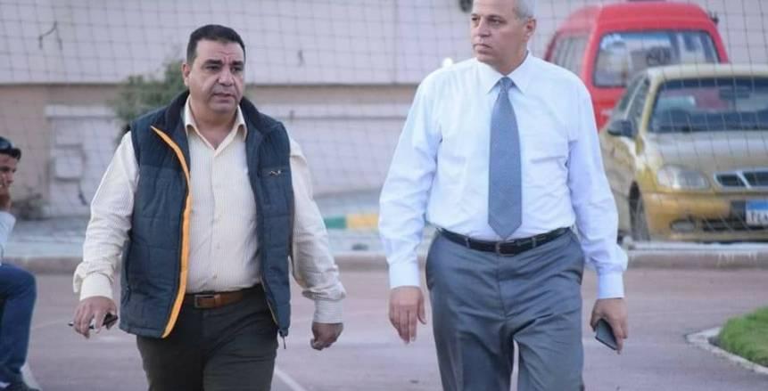 أشرف عامر يهنئ لاعبي الانتاج عقب الفوز على الداخلية