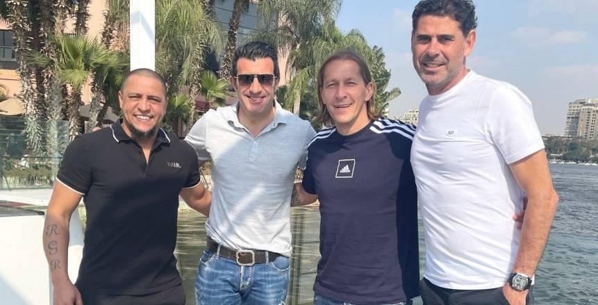 أساطير ريال مدريد يلتقون على نيل القاهرة