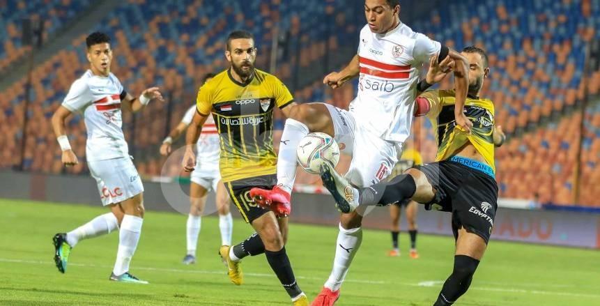 لقطات من مباراة الزمالك والإنتاج الحربي في الدوري المصري