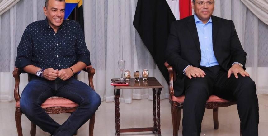 «مرتجي» يلبّي دعوة السفير المصري في تنزانيا على العشاء