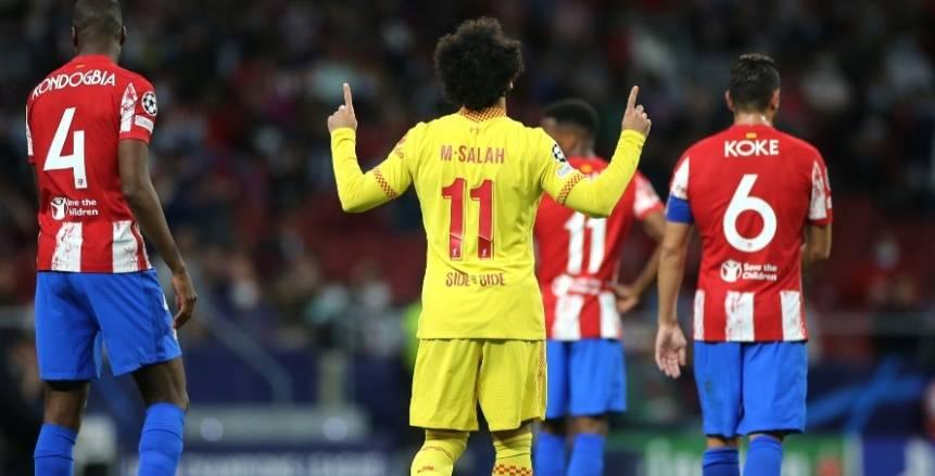 صلاح يسجل هدفا جدليا في تعادل ليفربول المثير أمام أتلتيكو بالشوط الأول
