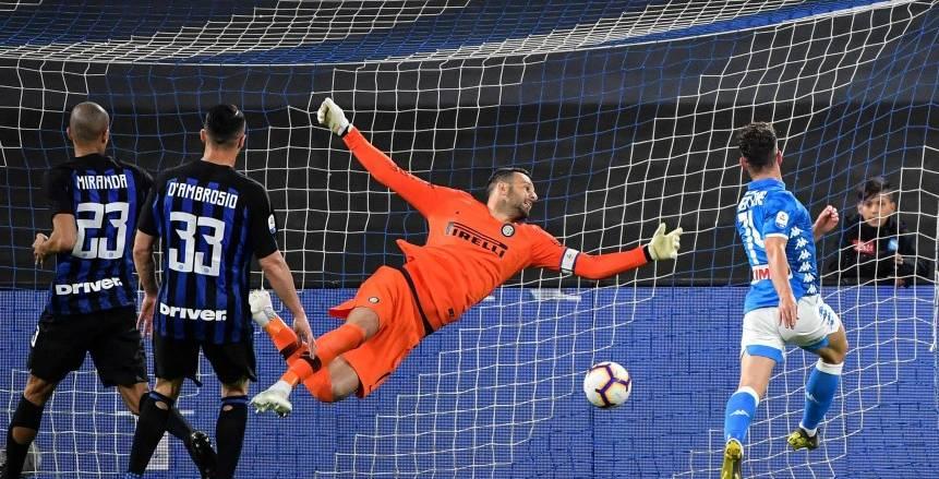 مباراة انترميلان ونابولي في الدوري الإيطالي