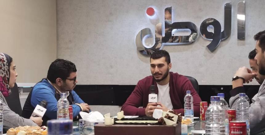 أبطال منتخب مصر لكرة اليد في ضيافة «الوطن»