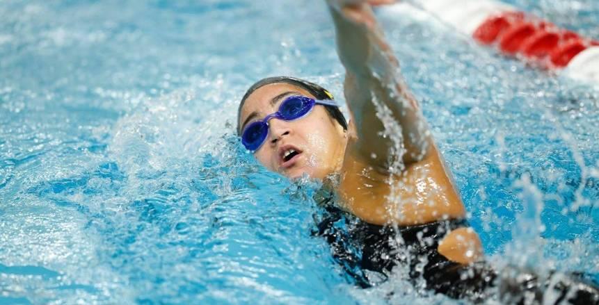 هانيا مورو تتوج بذهبية سباق 1650 ياردة للسباحة