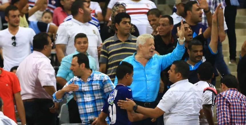 انفعالات رئيس الزمالك على الوايت نايتس في لقاء أهلي طرابلس