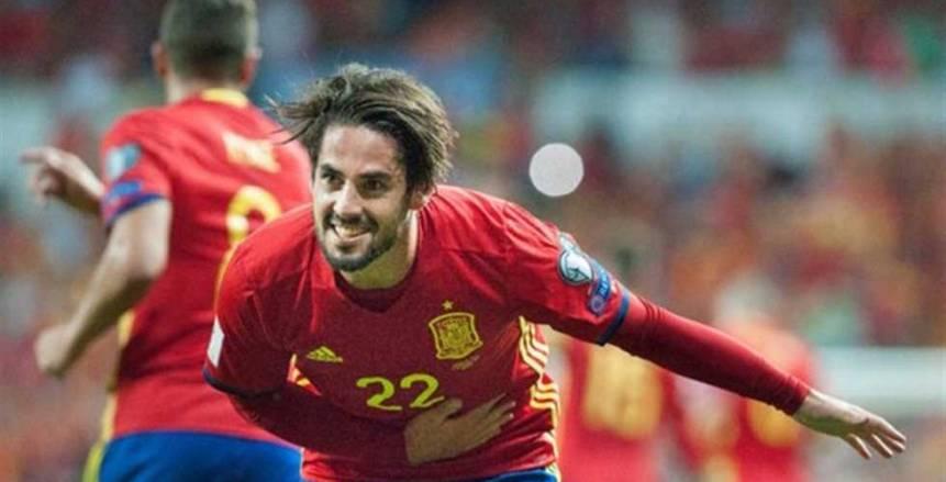 ايسكو يحقق 4 أرقام قياسية فى فوز اسبانيا على الآرجنتين