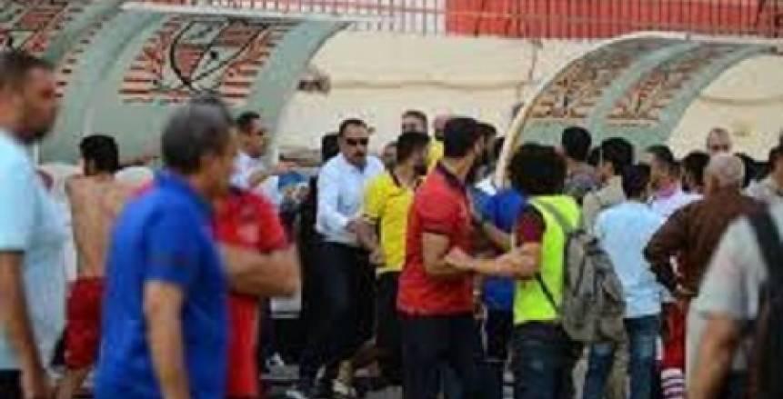 إيقاف مدرب البلدية مبارتين بعد اشتباكه مع لاعبي غزل المحلة