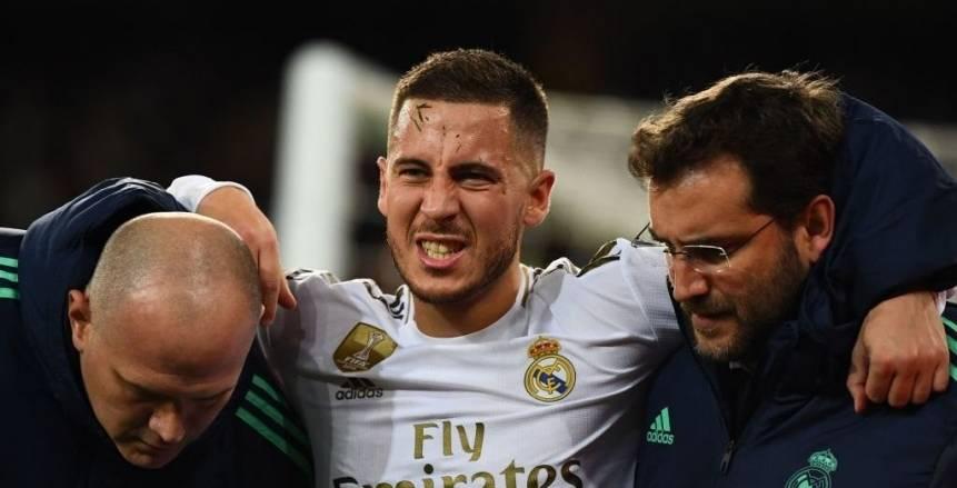 """""""مستر غيابات"""".. حصيلة إصابات هازارد تتفوق على أهدافه في ريال مدريد"""