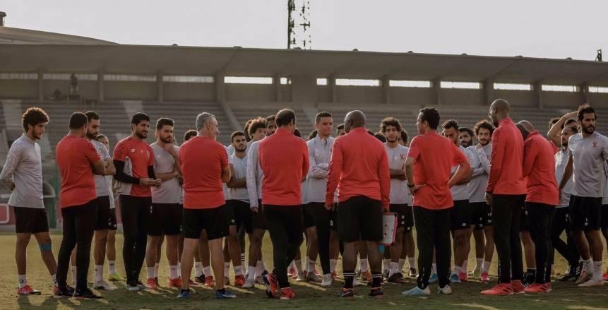 مران الأهلي اليوم استعدادا لمواجهة فريق أبوقير للأسمدة في كأس مصر