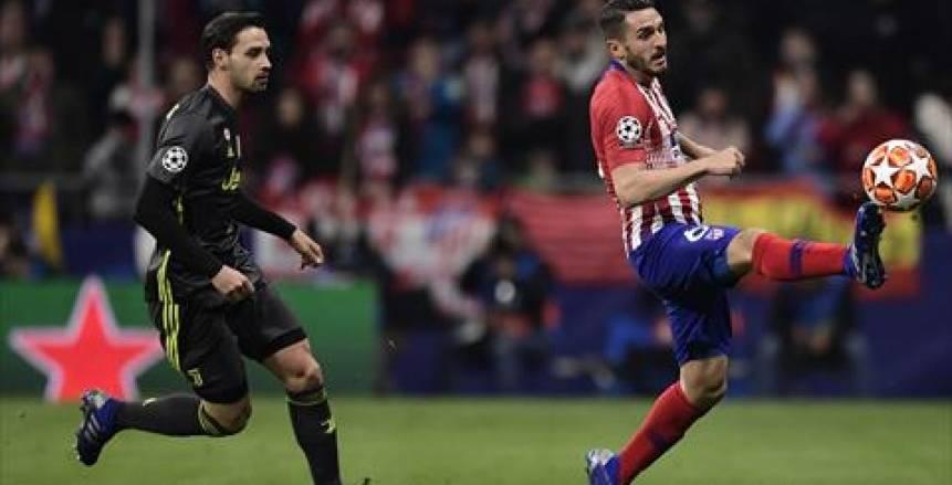 أتليتكو مدريد يسقط يوفنتوس بهدفين دون رد  في ذهاب دور الـ16 من دوري أبطال أوروبا
