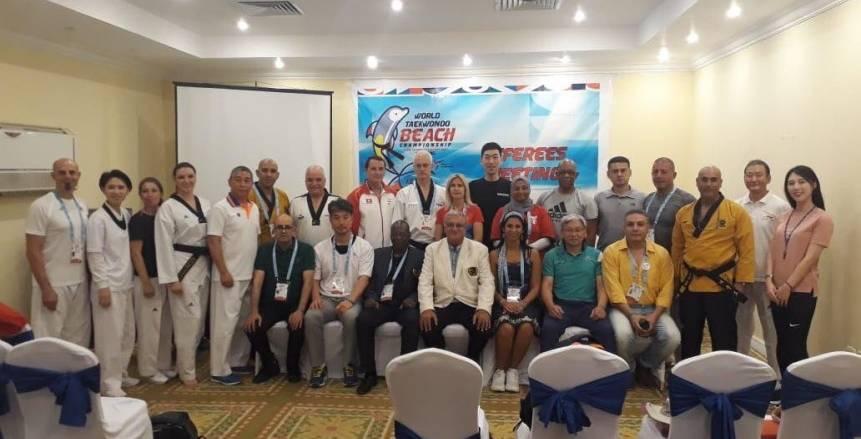 إقامة الاجتماع الفني والحكام لبطولة العالم الشاطئية للتايكوندو