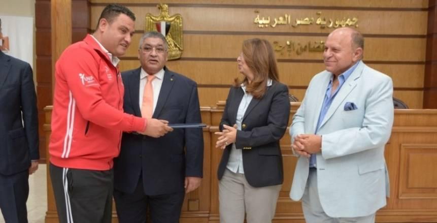 """وزارة التضامن الاجتماعي تكرم المنتخب المصري للأولمبياد الخاص """"أصحاب ذهبية الهند"""""""