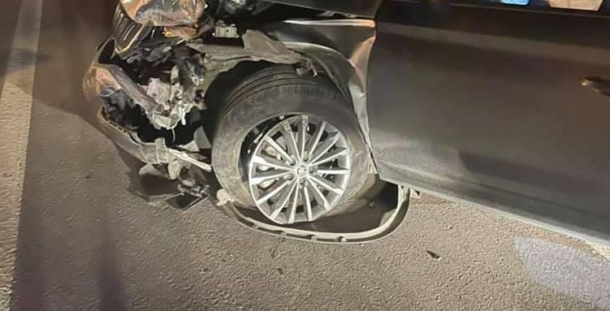 حادث مروع لحارس الأهلي السابق: ربنا نجاني من الموت «صور»