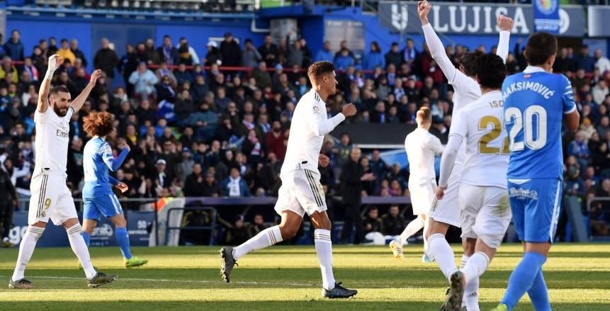 الشوط الأول.. ريال مدريد يتقدم بهدف على خيتافي في الدوري الإسباني
