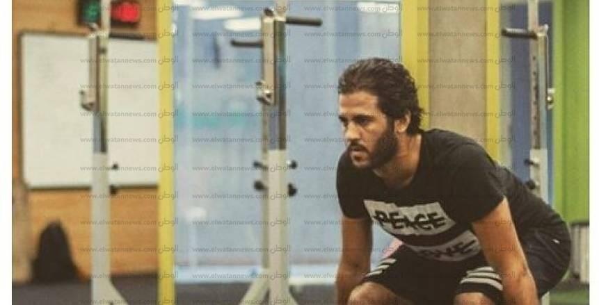بالصور  مروان محسن يواصل التدريب منفردًا بملعب التتش