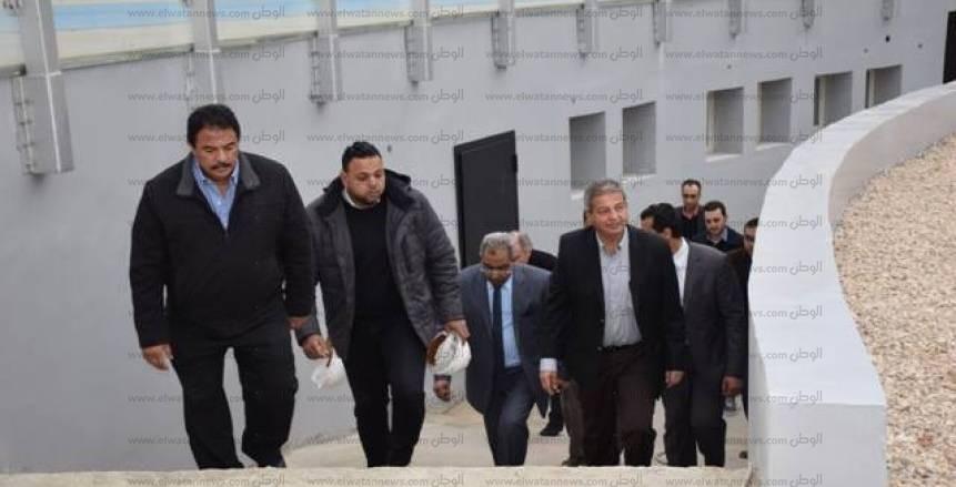 بالصور| وزير الرياضة يتفقد مضمار الدراجات والملاعب الفرعية بستاد القاهرة