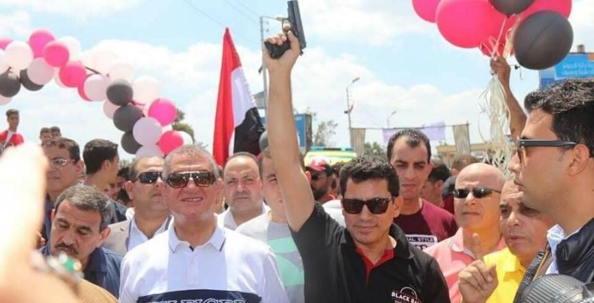 وزير الرياضة ومحافظ كفر الشيخ يطلقان ماراثون للجري بالمحافظة