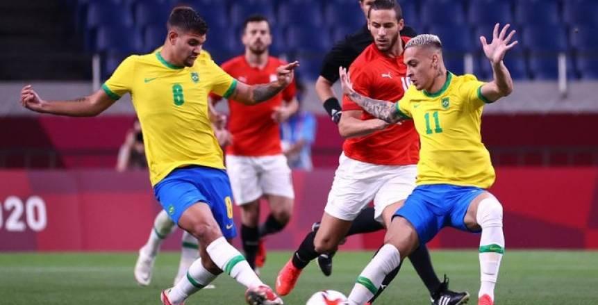 مباراة مصر والبرازيل أولمبياد طوكيو 2020