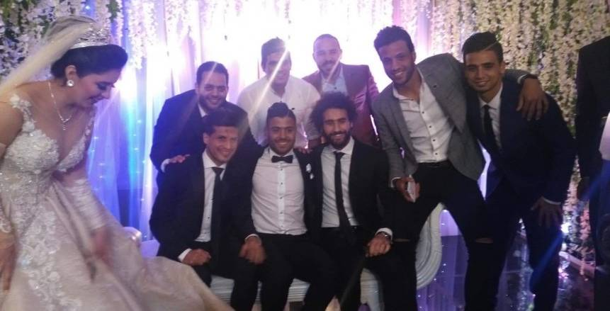 لاعبو الزمالك في حفل زفاف إبراهيم عبد الخالق
