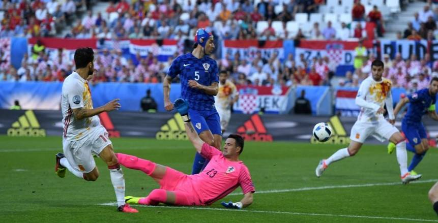 التعادل السلبي يحسم الشوط الأول من مواجهة إسبانيا وكرواتيا