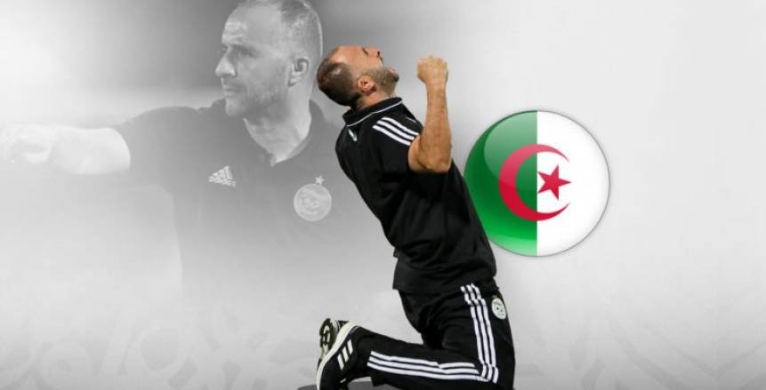 بالصور| بلماضي يحتفل مع جماهير الجزائر بكأس الأمم أمام فندق الإقامة