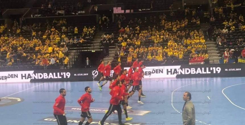 بالصور| أجواء مباراة مصر والسويد في بطولة العالم لليد