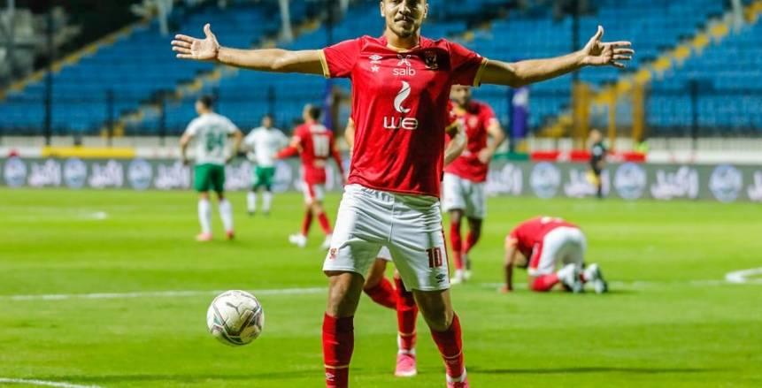 لقطات من فوز الأهلي على المصري بثنائية في الدوري