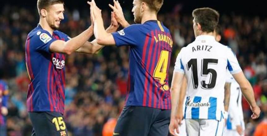 برشلونة يخطو خطوة أخرى نحو اللقب بانتصاره على ريال سوسيداد