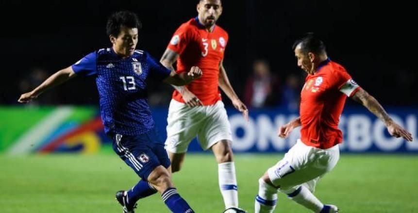 """في دقيقة واحدة تشيلي يسجل هدفين في مرمى اليابان بـ""""كوبا أمريكا"""""""